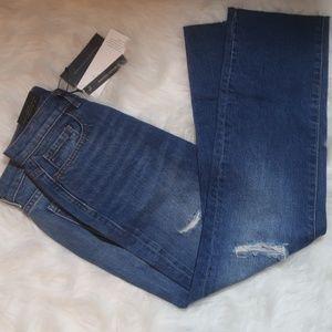 Banana Republic Straight Crop Frayed Hem Jeans Sz